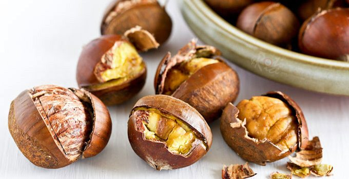 If you have never eaten Oven Roasted Chestnuts, it is time to give them a try. They are sweet, nutty, and perfect for the holidays. | RotiNRice.com
