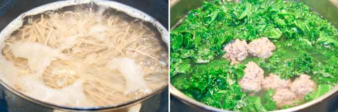 Beef Balls, Kale, and Soba Soup-7