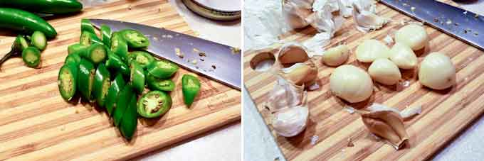 Pickled Green Chilies and Garlic-10