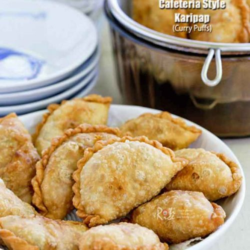 Malaysian Cafeteria Style Karipap (Curry Puffs) for tea time.