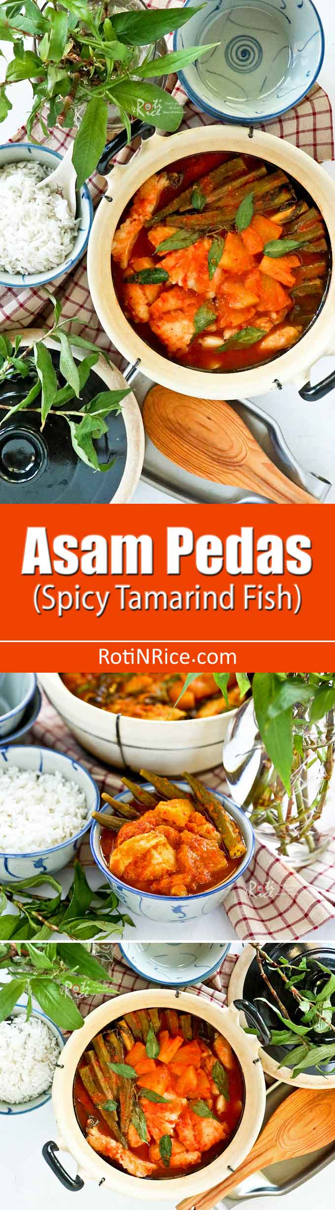 Asam Pedas (Spicy Tamarind Fish) is a spicy and tangy Malaysian fish dish that is sure to whet your appetite. Feast on it with lots of steamed rice. | RotiNRice.com