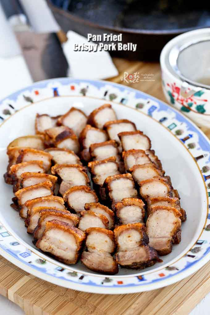 Crispy Pork Belly ready to be served.