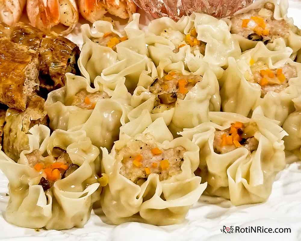 Four Seasons Platter with Siu Mai (Shumai) representing Summer.