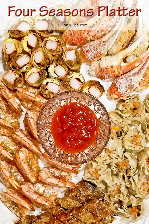 Lobak (Five-Spice Meat Rolls) representing Autumn.