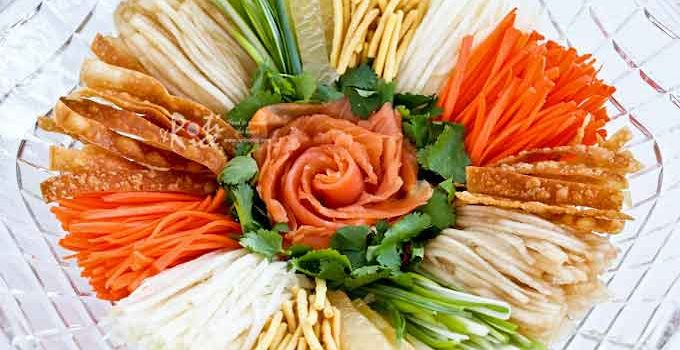 This colorful Prosperity Toss Salad, also known as Yee Sang (Yusheng) is a great starter for your Chinese New Year feast. It is a light, tasty, and fun dish to share with family and friends. | RotiNRice.com