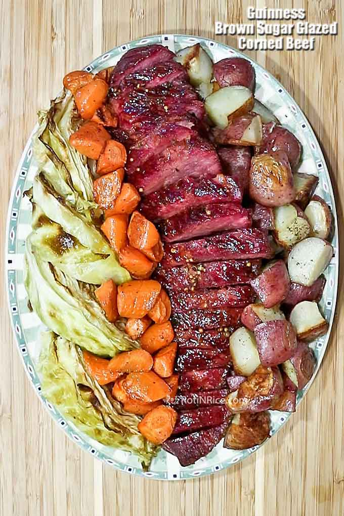 Beautifully glazed Guinness Corned Beef.