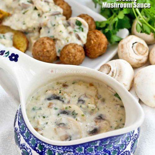 Versatile and delicious Creamy Mushroom Sauce.