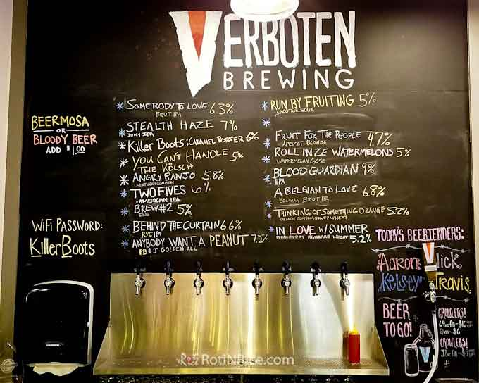 Verboten Brewing and On The Hook Fish And Chips - a brewery in CO with unique beers and fish and chips from a food truck serving WY, CO, NE, and UT. | RotiNRice.com