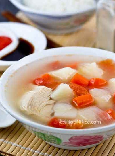 ABC Chicken Soup is easy to prepare and super comforting. It is usually served alongside rice but can be just as delicious served with noodles. | RotiNRice.com