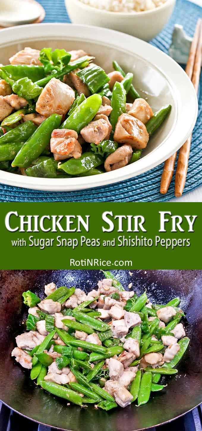 Delicious Chicken Stir Fry ready to be served.