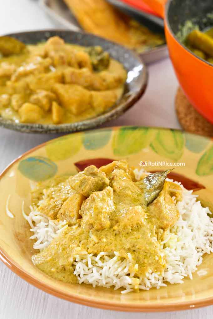 Yellow Chicken Curry served with rice