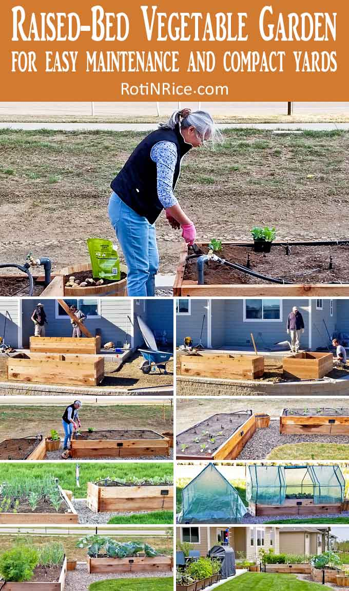 Raised-Bed Vegetable Garden for easy maintenance and compact yards.