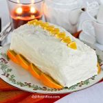 Enjoy the intense orange flavor of this moist and tender Orange Swirl Cream Cheese Pound Cake. The cream cheese frosting makes it even more delicious. | RotiNRice.com #poundcake #creamcheese #oranges #cakerecipes