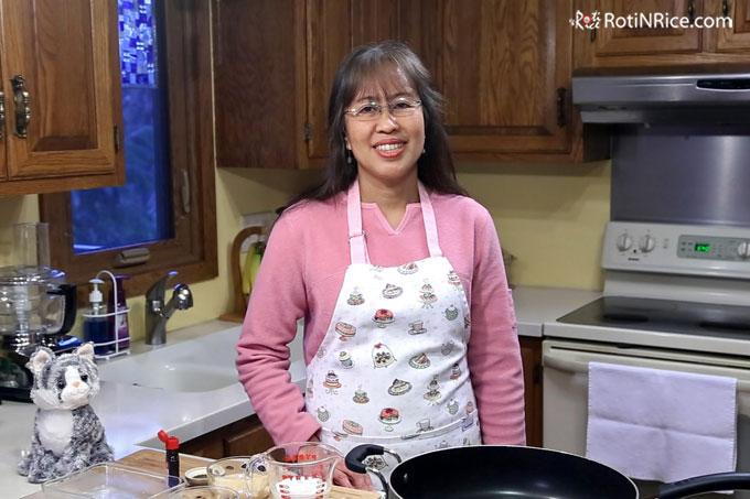 Roti n Rice is Ten! - Me in one of my earlier videos.