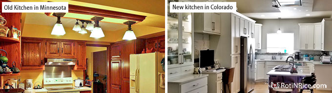 Roti n Rice is Ten! - The old and new kitchens.