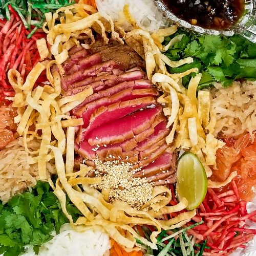 Yee Sang all ready for Lo Hei.