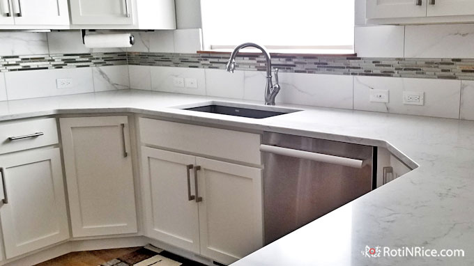 Remove all items from the countertop.