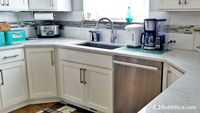 Cleaned and sanitized countertop.