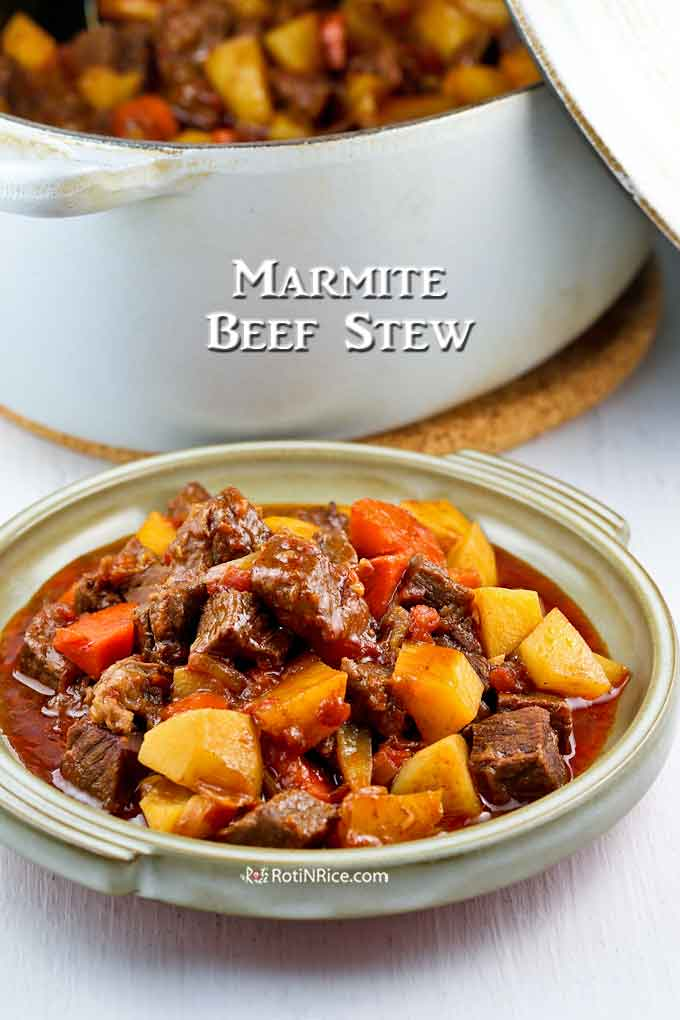 Beautifully unctuous and hearty Marmite Beef Stew.