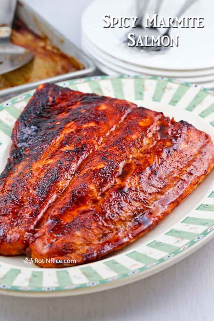 Deliciously savory Spicy Marmite Salmon