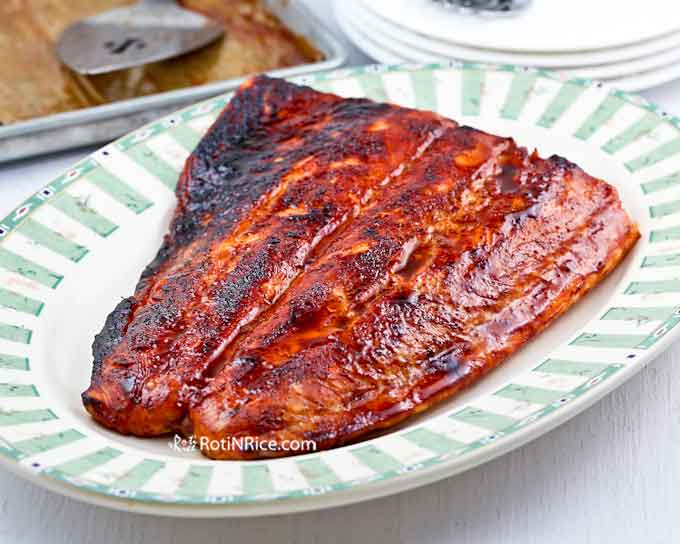 Super tasty Spicy Marmite Salmon