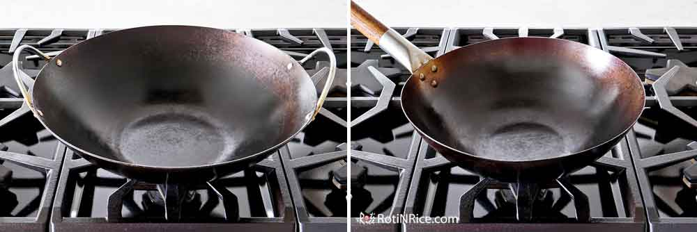 My two other works - double handle 14-inch wok and single handle 12-inch wok.
