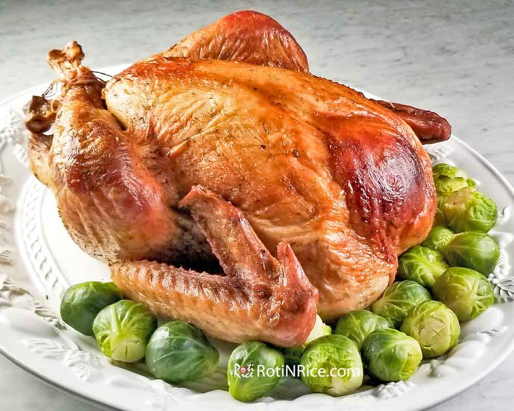 Perfectly roasted Make Ahead Roast Turkey.