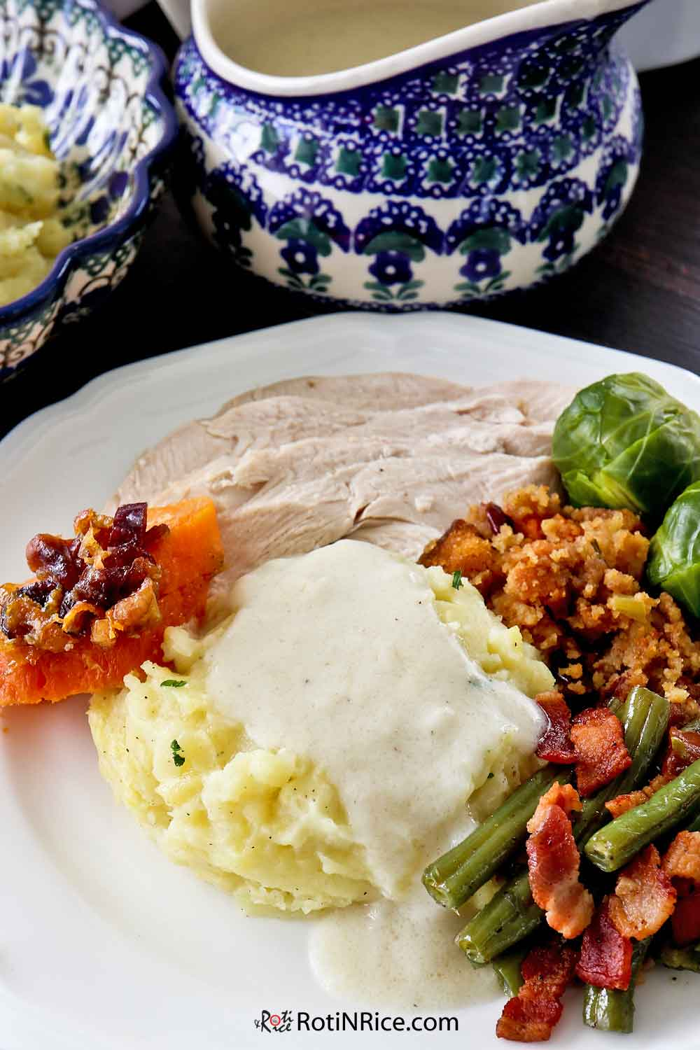 Creamy Turkey Gravy perfect with Creamy Mashed Potatoes