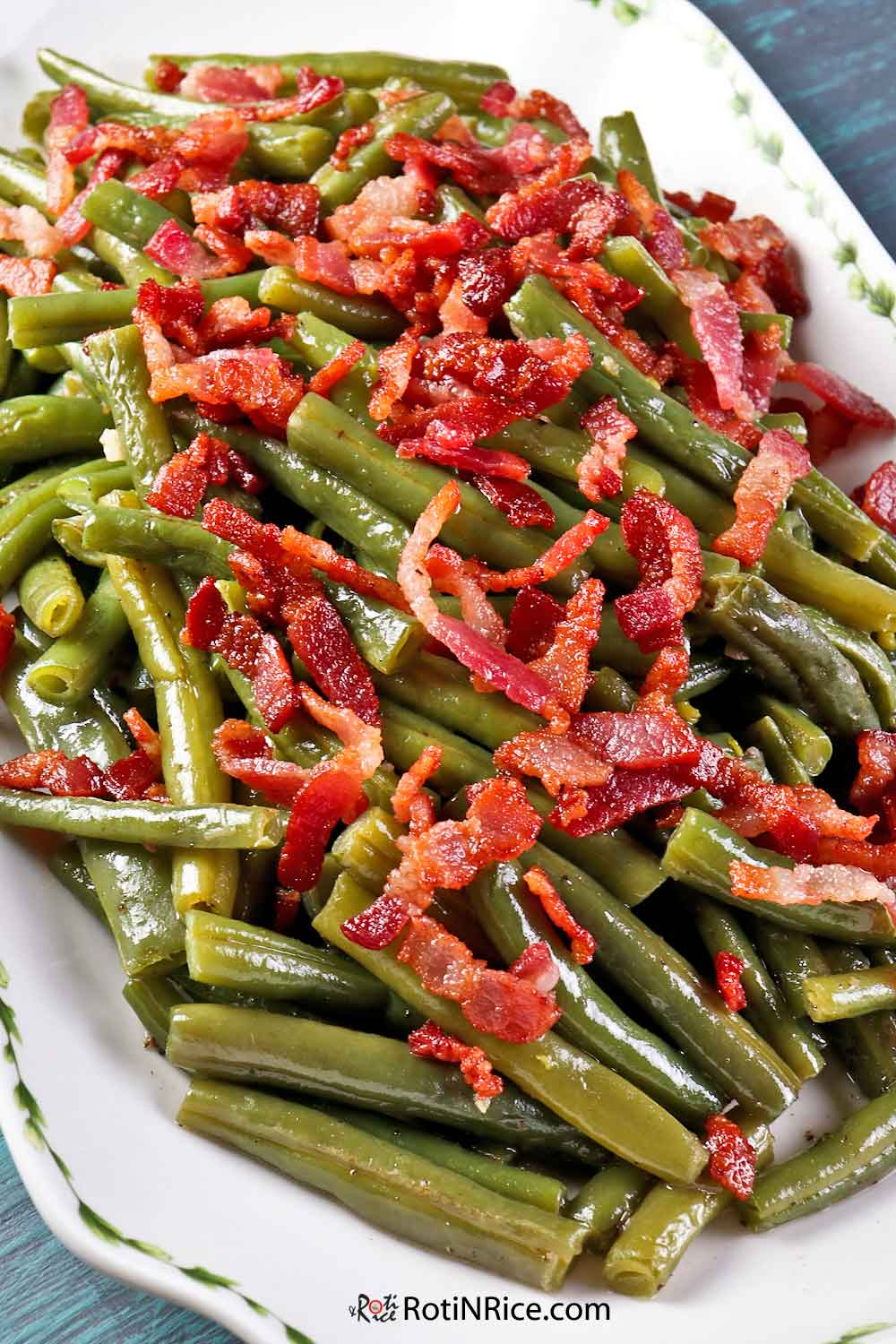 Green Beans with Bacon - an easy and tasty side dish.