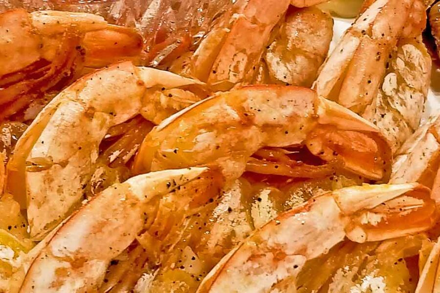 Quick and easy Pan Seared Butterfly Shrimp.