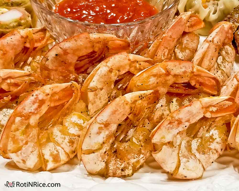 Juicy and succulent Pan Seared Butterfly Shrimp.