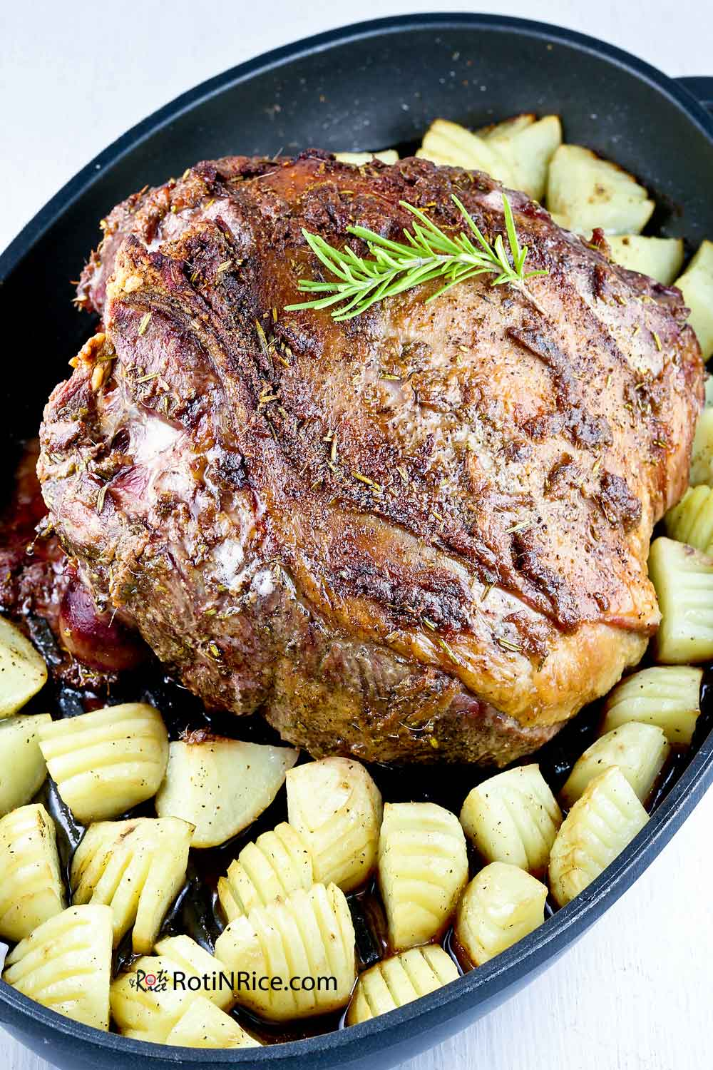 Roast Leg of Lamb fresh out of the oven.