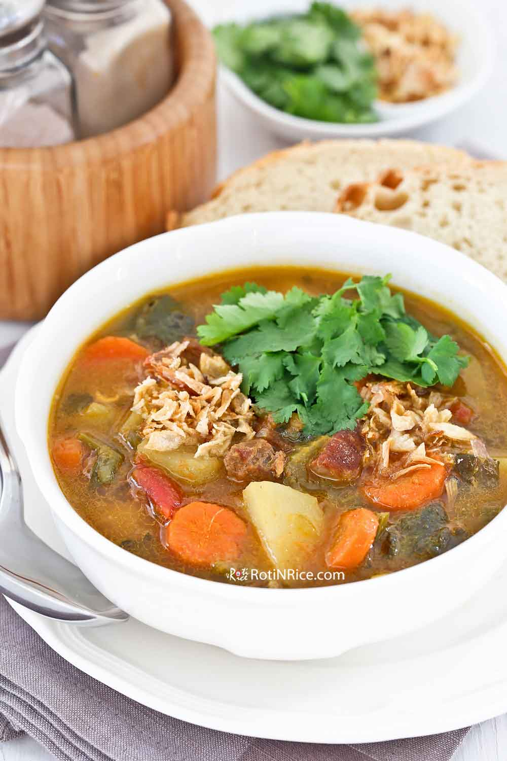 Hearty and flavorful Sup Kambing (Mutton/Lamb Soup).