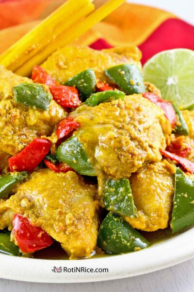 Colorful, fragrant, and Tangy Turmeric Lemongrass Chicken.