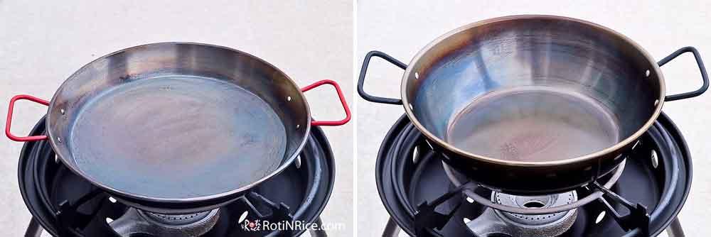Carbon steel paella pans